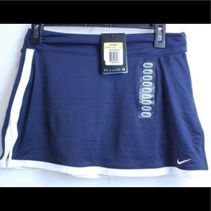 NEW NIKE Dri-Fit UV Blue & White Tennis Skirt-Sz S